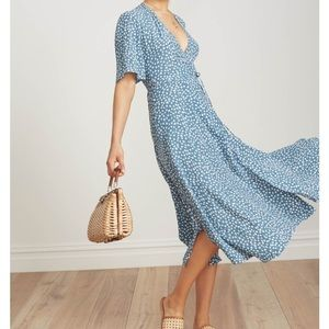 NWT Faithfull the Brand Rivera Midi Dress
